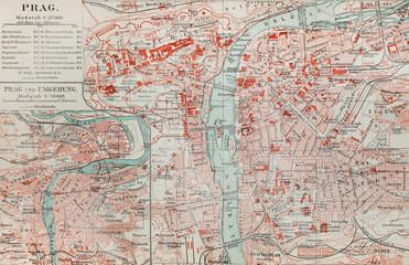 Old map of Prague