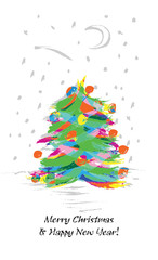 Christmas Tree, stylized drawing