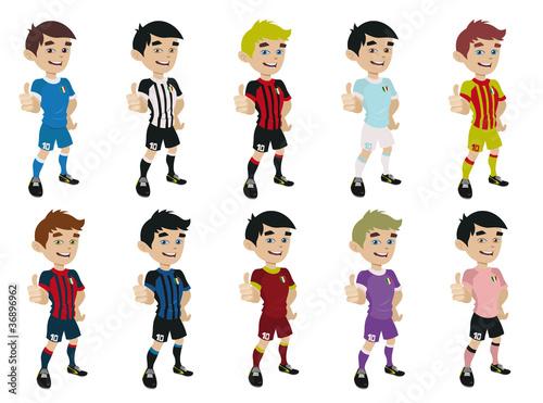 Squadre di calcio immagini e vettoriali royalty free su for Calciatori da colorare per bambini