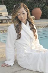 Woman at resort  Spa