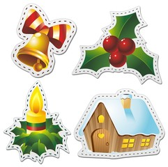 Printed kitchen splashbacks Draw Natale Stickers Christmas-Adesivi Decorazione-3-Vector