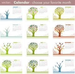 2012 Tree Calendar Set