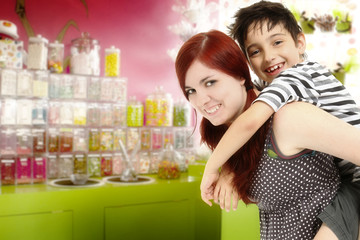Brother and Sister at the Candy Store