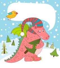Christmas dragon.