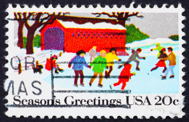 Postage stamp USA 1982 People Skating