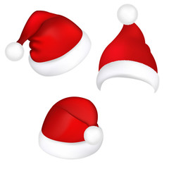 Three Santa Hats