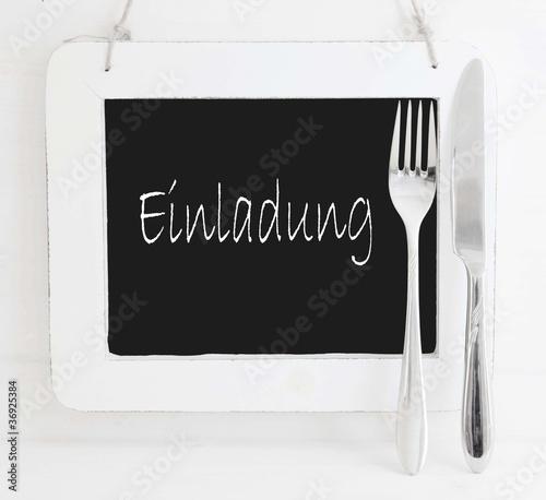 Einladung Zum Essen   Karte Mit Besteck