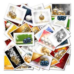 Collage con ilustraciones de Navidad
