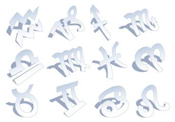 zodiac signs, vector