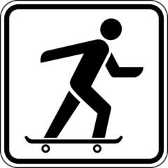 Fototapete - Skateboard fahren Schild Zeichen Symbol Grafik
