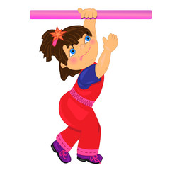 sport kid vector illustration.isolated character