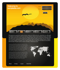 Web site design template 58