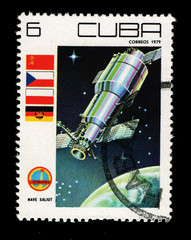CUBA, shows Nave Saliut,  circa 1979