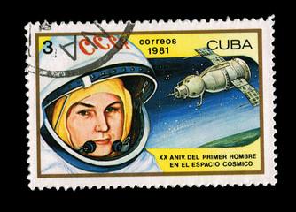 CUBA, XX ANIV DEL PRIMER HOMBRE EN EL ESPACIO COSMICO, 1981
