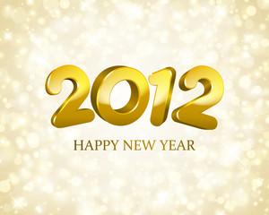 3d Happy New Year 2012 message