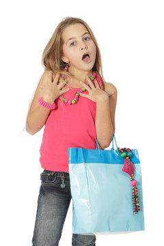 Surpise enfant shopping