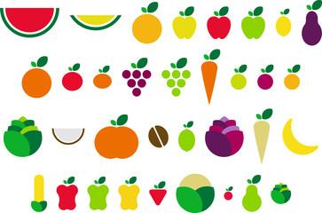 frutas y verduras vectorizadas