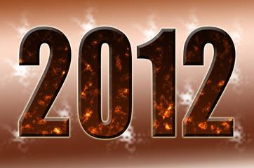 2012 sobre degradado.