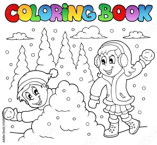 Онлайн раскраски зима