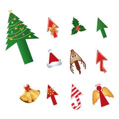 Christmas design cursors vector