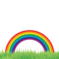 rainbow recycled papercraft background
