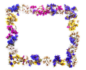 Colorful floral frame with space