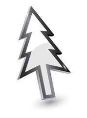 Vector mouse arrow pointers,Xmas tree version, 3d