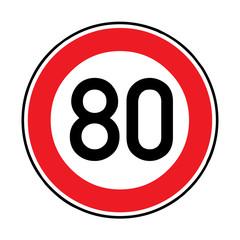 Papier Peint - Verkehrsschild - 274 Höchstgeschwindigkeit