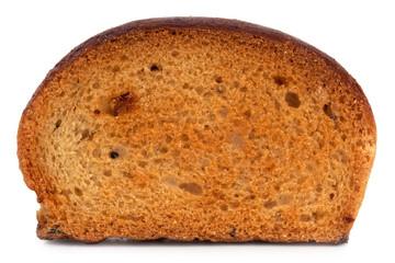 Small dried slice of bread