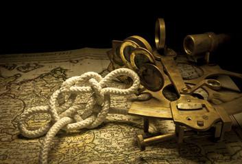 Nudo marinero y sextante