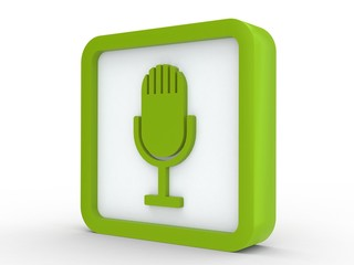 Icon grün Mikrophon