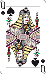 Queen of spade playing card