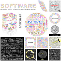 SOFTWARE concept illustration. GREAT COLLECTION.