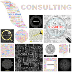 CONSULTING concept illustration. GREAT COLLECTION.