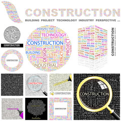 CONSTRUCTION concept illustration. GREAT COLLECTION.