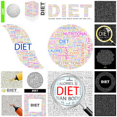 DIET concept illustration. GREAT COLLECTION.