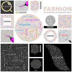 FASHION concept illustration. GREAT COLLECTION.