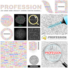 PROFESSION. Concept illustration. GREAT COLLECTION.