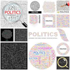 POLITICS. Concept illustration. GREAT COLLECTION.