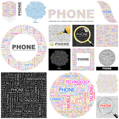 PHONE. Concept illustration. GREAT COLLECTION.