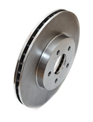 New brake disc isolated on white background