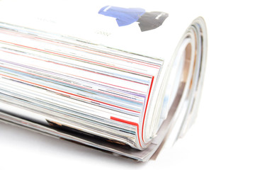 Magazine Roll isolated