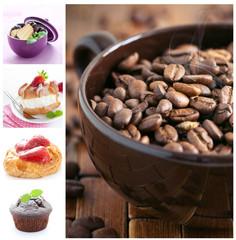 Desserts und Kaffee