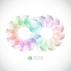 Abstract background with transparent boxes