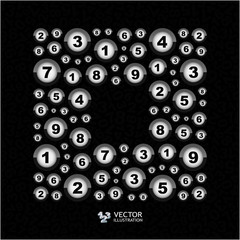 Numbers. Abstract illustration.