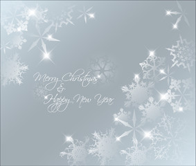 Vector Light blue abstract Christmas background