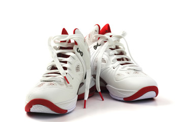 Basketball Shoes on white background