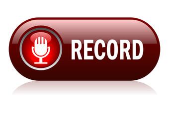 Record button, vector illustration