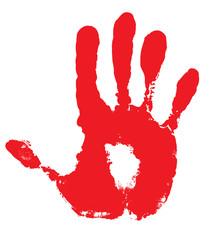 main, empreinte et meurte