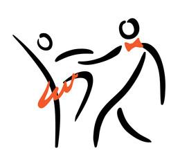 dancing couple symbol